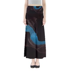 Abstract Adult Art Blur Color Full Length Maxi Skirt