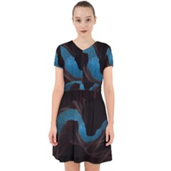 Abstract Adult Art Blur Color Adorable In Chiffon Dress