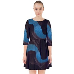 Abstract Adult Art Blur Color Smock Dress