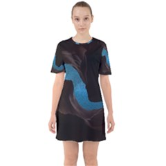 Abstract Adult Art Blur Color Sixties Short Sleeve Mini Dress