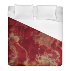 Marble Red Yellow Background Duvet Cover (full/ Double Size)