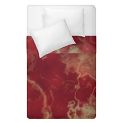 Marble Red Yellow Background Duvet Cover Double Side (single Size)