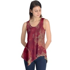 Marble Red Yellow Background Sleeveless Tunic