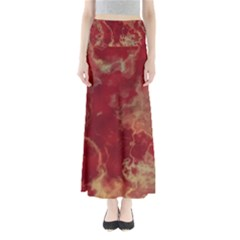 Marble Red Yellow Background Full Length Maxi Skirt