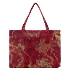 Marble Red Yellow Background Medium Tote Bag