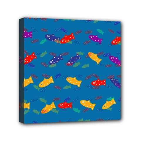 Fish Blue Background Pattern Texture Canvas Travel Bag