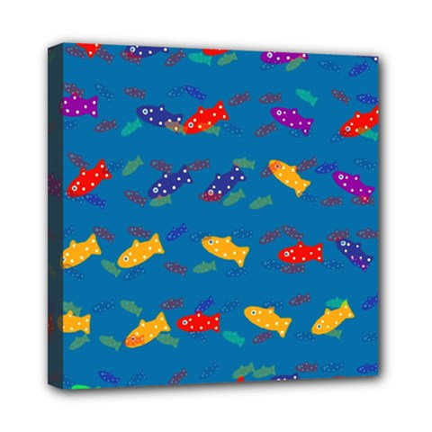 Fish Blue Background Pattern Texture Multi Function Bag