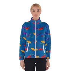 Fish Blue Background Pattern Texture Winterwear