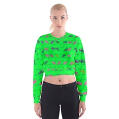 Fish Aquarium Underwater World Cropped Sweatshirt