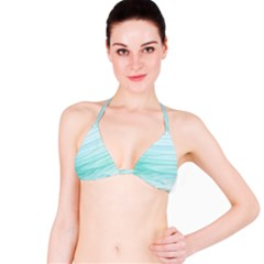 Texture Seawall Ink Wall Painting Bikini Top