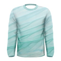 Texture Seawall Ink Wall Painting Men s Long Sleeve Tee