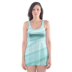 Texture Seawall Ink Wall Painting Skater Dress Swimsuit