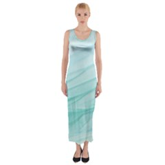 Texture Seawall Ink Wall Painting Fitted Maxi Dress