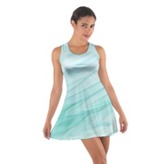 Texture Seawall Ink Wall Painting Cotton Racerback Dress
