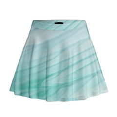 Texture Seawall Ink Wall Painting Mini Flare Skirt