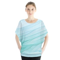 Texture Seawall Ink Wall Painting Blouse