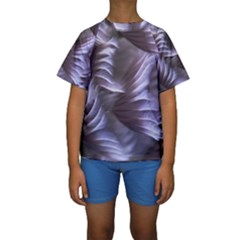 Sea Worm Under Water Abstract Kids  Short Sleeve Swimwear