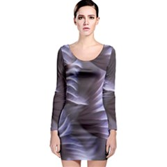 Sea Worm Under Water Abstract Long Sleeve Bodycon Dress