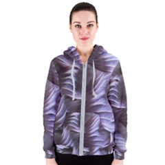 Sea Worm Under Water Abstract Women s Zipper Hoodie