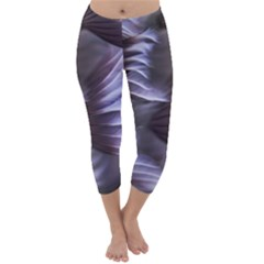 Sea Worm Under Water Abstract Capri Winter Leggings