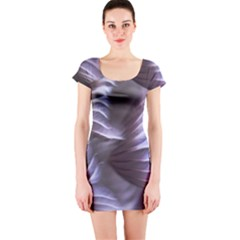 Sea Worm Under Water Abstract Short Sleeve Bodycon Dress
