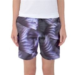 Sea Worm Under Water Abstract Women s Basketball Shorts