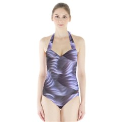 Sea Worm Under Water Abstract Halter Swimsuit