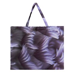 Sea Worm Under Water Abstract Zipper Large Tote Bag