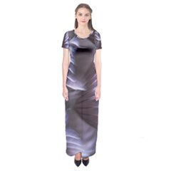 Sea Worm Under Water Abstract Short Sleeve Maxi Dress