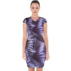 Sea Worm Under Water Abstract Capsleeve Drawstring Dress