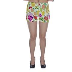 Seamless Pattern Desktop Decoration Skinny Shorts