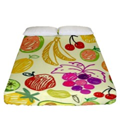 Seamless Pattern Desktop Decoration Fitted Sheet (queen Size)