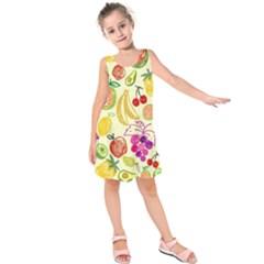 Seamless Pattern Desktop Decoration Kids  Sleeveless Dress