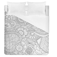 Ornament Vector Retro Duvet Cover (queen Size)