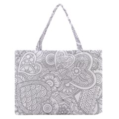 Ornament Vector Retro Zipper Medium Tote Bag