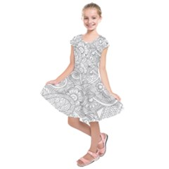 Ornament Vector Retro Kids  Short Sleeve Dress
