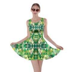 Forest Abstract Geometry Background Skater Dress