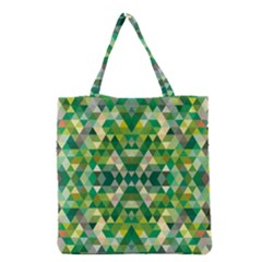 Forest Abstract Geometry Background Grocery Tote Bag