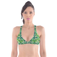 Forest Abstract Geometry Background Plunge Bikini Top