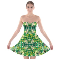 Forest Abstract Geometry Background Strapless Bra Top Dress