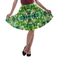 Forest Abstract Geometry Background A Line Skater Skirt