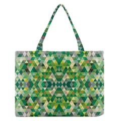 Forest Abstract Geometry Background Zipper Medium Tote Bag by Nexatart
