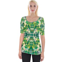 Forest Abstract Geometry Background Wide Neckline Tee
