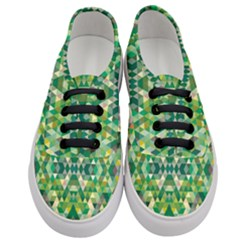 Forest Abstract Geometry Background Women s Classic Low Top Sneakers