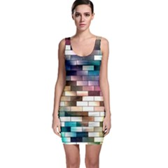 Background Wall Art Abstract Bodycon Dress