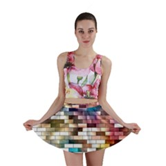 Background Wall Art Abstract Mini Skirt