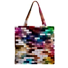 Background Wall Art Abstract Zipper Grocery Tote Bag