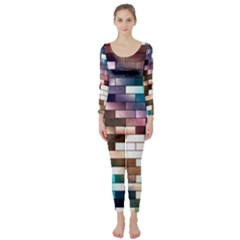 Background Wall Art Abstract Long Sleeve Catsuit