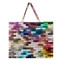 Background Wall Art Abstract Zipper Large Tote Bag