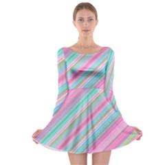 Background Texture Pattern Long Sleeve Skater Dress